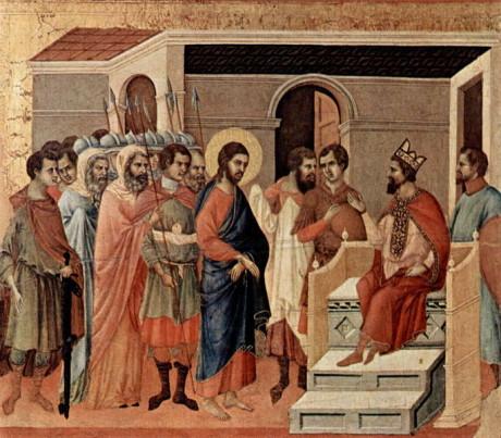 Schilderij van Duccio (bron: Wikipedia)